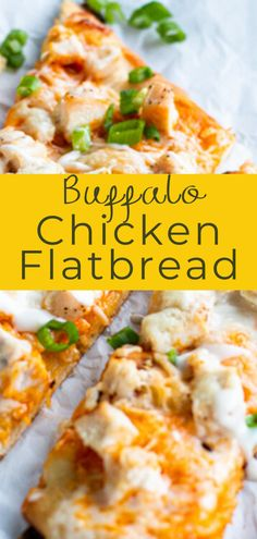 A new homemade pizza for game day or pizza night at home! This buffalo chicken flatbread recipe is easy to toss together and full of spicy buffalo flavor! Flatbread Recipes, Buffalo Chicken Flatbread Pizza Recipe, Buffalo Chicken Recipes, Barbecue Recipes, Vegetarian Barbecue, Bbq, Soup Appetizers, Appetizer Recipes, Homemade Buffalo Sauce