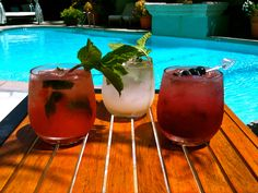 "Poolside cocktails are practically a summer ""must"" in Beverly Hills."