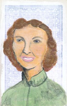 Portrait Study No 2 Original Acrylic Painting on by JuliaWrightArt on Etsy.