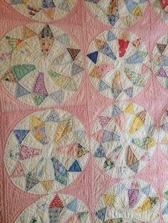 vintage pink quilt