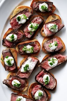 Steak & Boursin Cheese Crostini — Cooking with Cocktail Rings grilled ribeye steak and boursin cheese crostini recipe from cooking with cocktail rings food Appetizers For Party, Appetizer Recipes, Steak Appetizers, Easy Holiday Appetizers, Canapes Recipes, Simple Appetizers, Dinner Recipes, Steak Recipes, Cooking Recipes