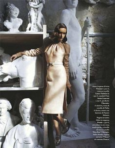 """The Terrier and Lobster: """"Impara l'arte"""": Olya Zueva and Statues by Michael Woolley for Io Donna Fashion Photography Inspiration, Photoshoot Inspiration, Editorial Photography, Portrait Photography, Mode Pop, Musée Rodin, Mango Fashion, Art Model, Girl Photos"""