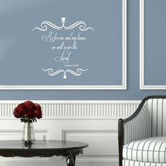 Vinyl Decal Bible Verses Serve Lord Home Wall Art by BestDecals, $22.99