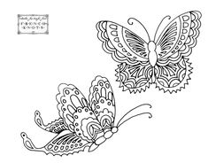 Vintage Butterfly Embroidery Pattern style for Becky?