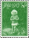 1915 Christmas Seal of Denmark