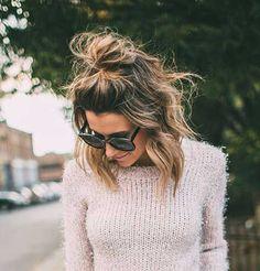 7.Cute Bun for Short Hair