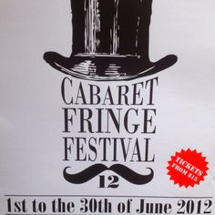 Cabaret Fringe Festival hits in June. Cabaret, Festivals, Art Nouveau, June, Events, Concerts, Festival Party