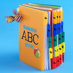 ABC book made out of index card dividers and cards
