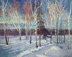 Jour d hiver ensoleillé, huile sur toile de Igor Emmanuilovich Grabar (1871-1960, Hungary)