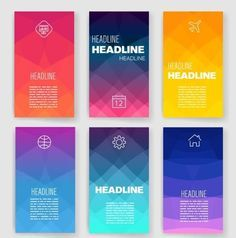 Design Set of Web Mail Brochures. Mobile Technology and - App Templates - Ideas of App Templates - Templates. Design Set of Web Mail Brochures. Mobile Technology and Web And App Design, Mobile App Design, Design Websites, Mobile Ui, Design Set, Game Design, Layout Design, Banner Design, Icon Design