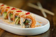 Sushi is one of our many menu items great for sharing at Stout St. Social. You can see more at: http://www.stoutstsocial.com