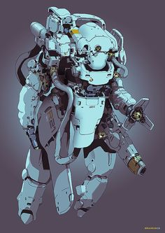 "rhubarbes: "" ArtStation - Maintenance Work, by Brian Sum More robots here. """