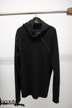 Lost & Found FW12 showroom - black sweater with rough sewings - casual wear