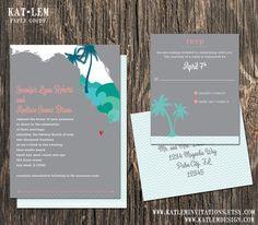 Florida Wedding Invitation Set  Florida State by katleminvitations, $40.00