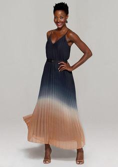 1ccf8c643331 Hilary Pleated Ombre Maxi Dress Ombre Maxi Dress, Pleated Maxi, Clothing  For Tall Women