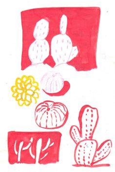 Desert plants sketches