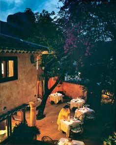 The charming La Villa Mahana in Bora Bora has seven tables and one waiter.