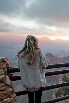 Comfort. Hair is a wild and free with no cares, none. Because look at the view…