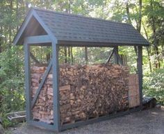 This firewood storage shelter matches the house perfectly. It was constructed in just a couple of days. Photo Credit: Tim Carter