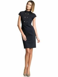 Navy BR dress with silver buttons