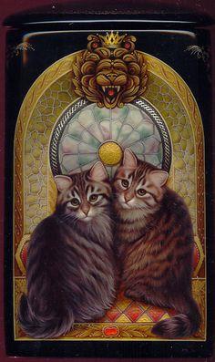 Лаковая миниатюра Константина и Светланы Даньшиных (30 картинок)