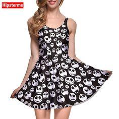 Summer Casual Sleeveless Evening Party Slim Mini Dress //Price: $30.86 & FREE Shipping //http://likeadiamondworld.com/new-arrival-womens-dress-white-mini-skulls-print-digital-printed-women-summer-casual-sleeveless-evening-party-slim-mini-dress/