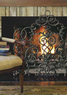 For the grandest of fireplaces...