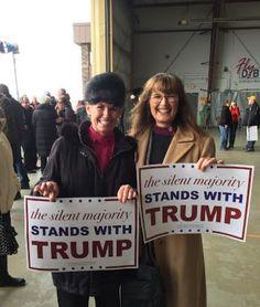 Rebecca Thoeni, right, at a rally for Donald Trump in Dubuque, Iowa Donald Trump, Black Republicans, Trump Is My President, Greatest Presidents, Trump Train, Conservative Politics, In God We Trust, Presidential Election, Dubuque Iowa