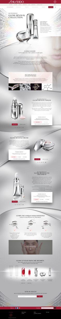 """Design & Création d'un mini-site en Responsive Design pour la marque de luxe """"Shiseido"""" - Bio-Performance - #luxe #design #responsive #scroll #clean #ux #ui"""