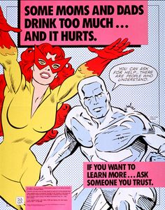 Marvel NACoA Iceman and Fire-Star Poster