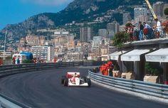 F1モナコGP マスネ、マクラーレン・ホンダF1マシン、アイルトン・セナ