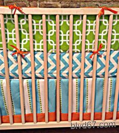 Hey, I found this really awesome Etsy listing at https://www.etsy.com/listing/174111750/3-piece-crib-bedding-set-in-lime-green