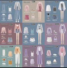 Korean Girl Fashion, Ulzzang Fashion, Korean Street Fashion, Korea Fashion, Cute Fashion, Look Fashion, Swag Fashion, Fashion Design, 80s Fashion