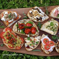 Wedding Bridesmaid Brunch. Luncheon, Breakfast Buffet. Real Italian bruschetta - this recipe is fabulous!