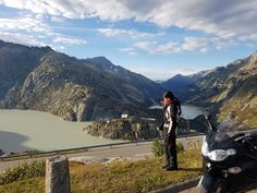 Such a panoramic view from above. Motorcycle Touring, Alps, Tours, Mountains, Beach, Travel, Viajes, The Beach, Beaches