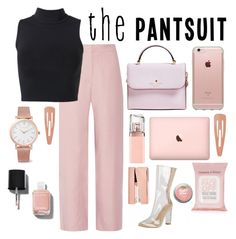 """""""// p a n t S u i t //"""" by liamschoco ❤ liked on Polyvore featuring Acne Studios, Kate Spade, Larsson & Jennings, Incase, Chanel, HUGO, Topshop, Tom Dixon and Forever 21"""