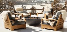 Belvedere Collection - Natural Teak | RH Chalet Design, Chalet Style, Outdoor Spaces, Outdoor Living, Chalet Interior, Ski Chalet Decor, Interior Design, Alpine Chalet, Luxury Homes