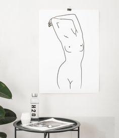 Nude Line Drawing Print Nudeart Line Art Woman Female Frontal Nudity Minimalist Art Single Line Art Black and White Poster Nordic Art Black And White Posters, Black And White Drawing, Black White, Minimalist Drawing, Minimalist Art, Art Abstrait Ligne, Silhouette Tattoos, Woman Silhouette, Art Minimaliste