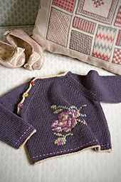 Ravelry: Kimono Rose sweater pattern by Erika Knight. 3-9 months