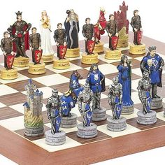 King Arthur the Legend of Camelot Chessmen  Stuyvesant Street Chess Board from Spain * Be sure to check out this awesome product.