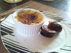 Crème Brûlée With Figs In Pomegranate Concentrate