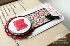 Magnetic Bookmarks by Sarah Gough  www.thinkingstamps.com