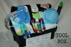 New Dad Baby Shower Gift - Daddy's Diaper Duty Tool Belt or Tool Box