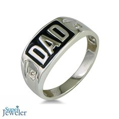 Beautiful Diamond Dad Ring in Sterling Silver - $49.99
