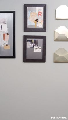 Staying organized has never been easier thanks to these chic DIY magnetic boards. Staying organized has never been easier thanks to these chic DIY magnetic boards. Diy Craft Projects, Diy Home Crafts, Easy Diy Crafts, Diy Crafts Videos, Diy Crafts For Kids, Diy Para A Casa, Diy Casa, Diy Magnets, Diy Store