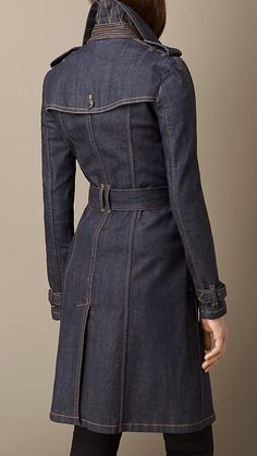 Indigo Japanese Denim Structured Trench Coat
