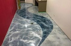 metallic epoxy flooring design