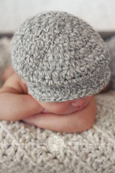 Baby Boy Irish Donegal Cap Preemie/Newborn Baby by TSBPhotoProps
