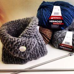 Cuello tejido a dos agujas con lana HERMOSO de Lane Mondial