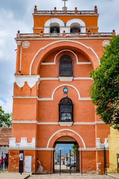 Arco Torre del Carmen, the old gate entrance to San Cristobal de las Casas in Mexico